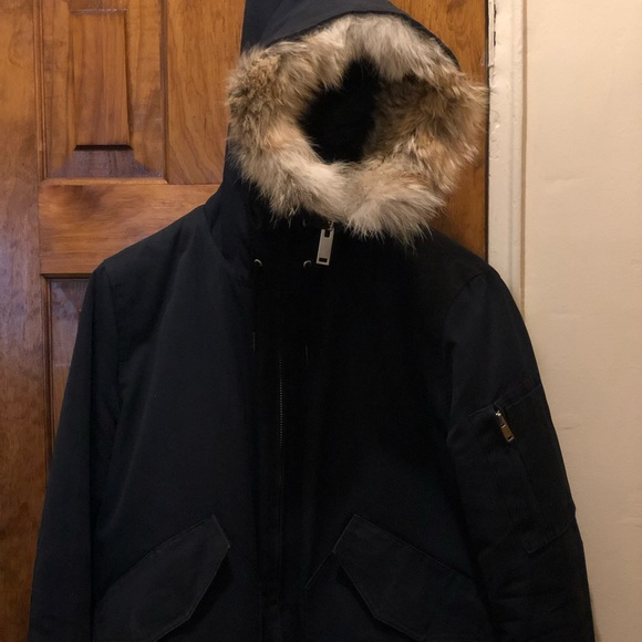 1c4940e59 Sandro winter down filled Parka with fur trim